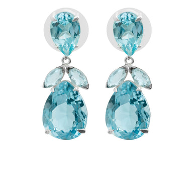 Upside down blue topaz earrings