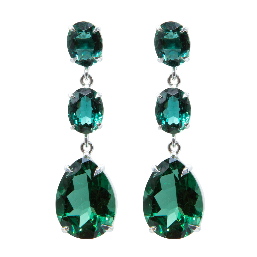 Stunning Green Quartz Earrings