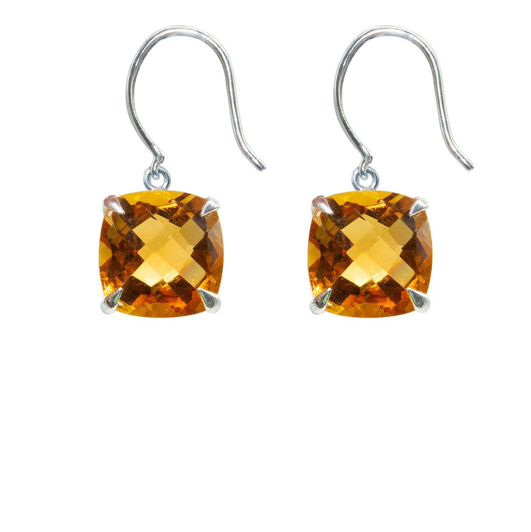 Contemporary Citrine Earrings