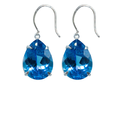 Spectacular Blue Topaz Earrings