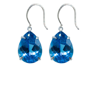 Spectacular Blue Quartz Earrings