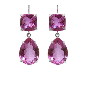 Divine Pink Topaz Earrings