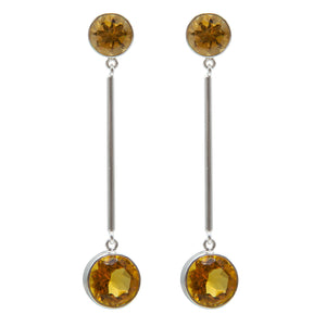 Minimalist citrine earrings