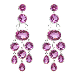 Maharani pink topaz earrings
