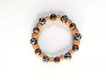 7mm Wood | Tiger's Eye | Black & White Trade Beads