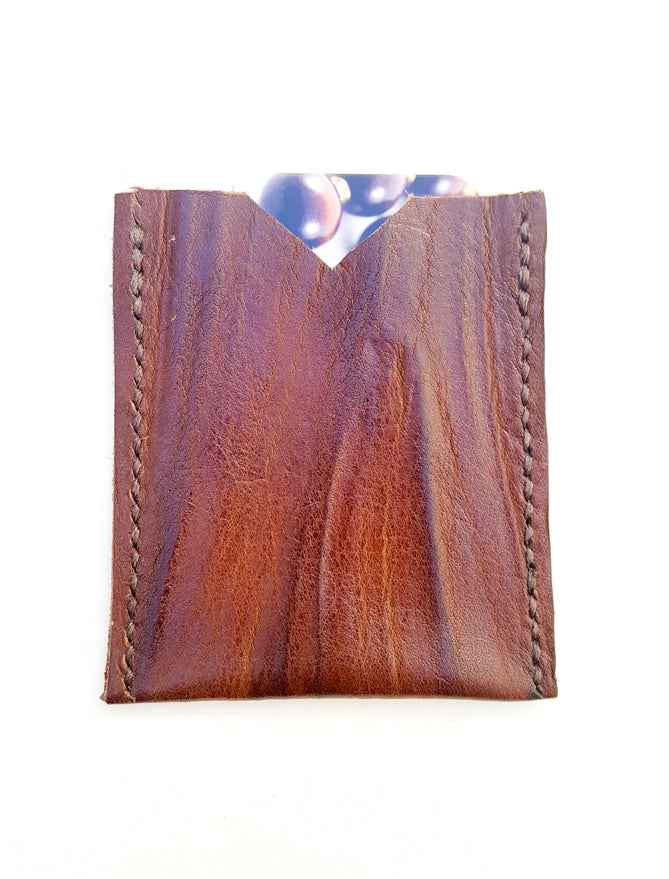 Premium Wood Grain Leather Card Holders