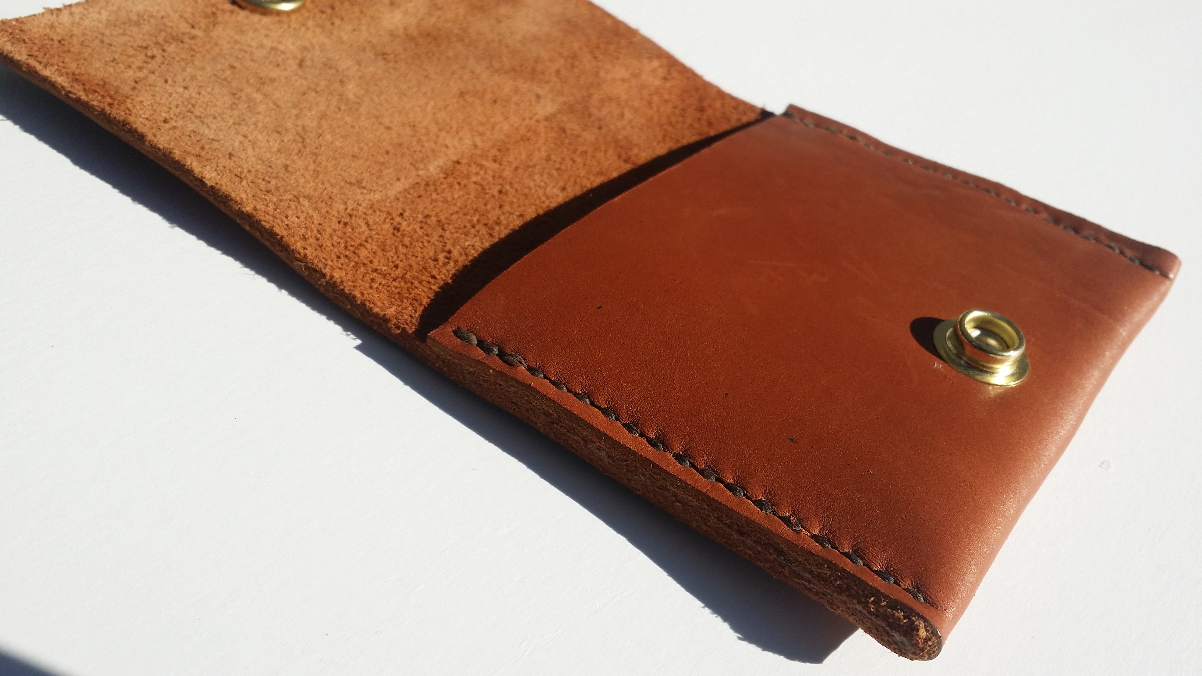 Peanut Butter Brown Premium Leather Wallet With Brown Stitching