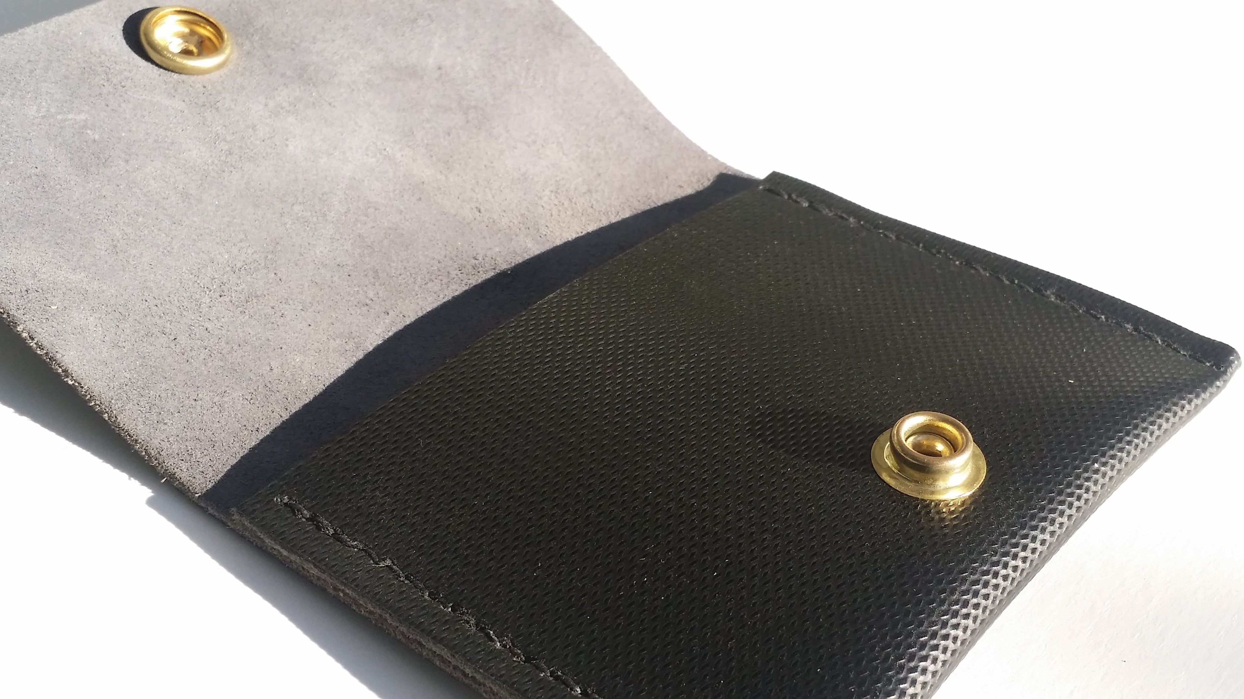 Speedway Black Leather Wallet With Black Stitching | Mens Front Pocket Wallet