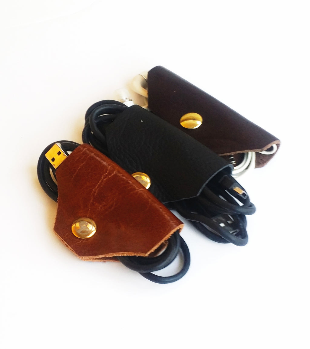 Premium Leather Cord Keepers