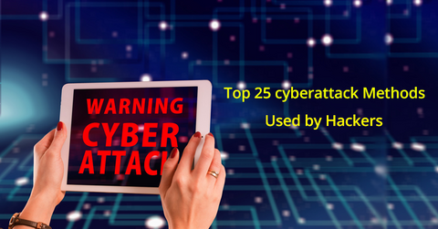Top 25 cyberattack Methods Used by Hackers - 2019