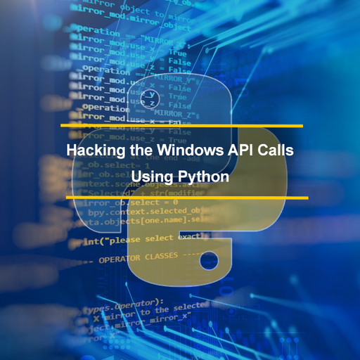 API Hacking Course - Hack the Windows API Calls and Build Custom Tools With Python - Ethical Hackers Academy