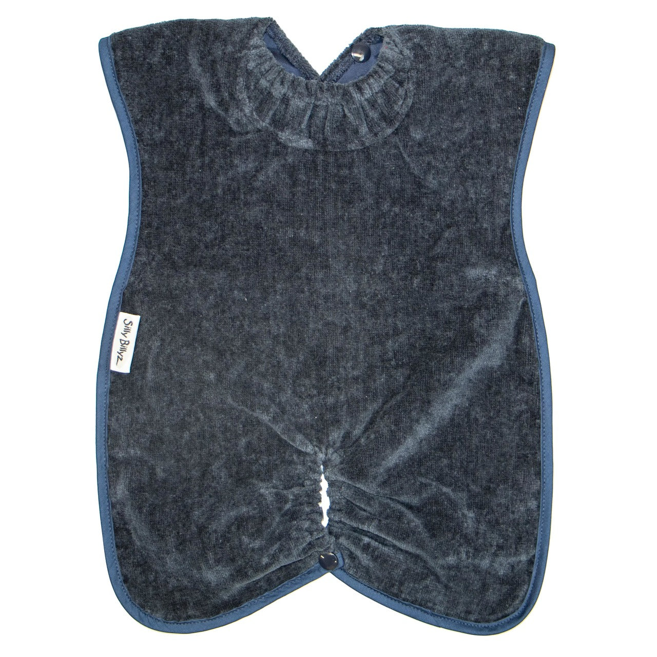 Navy Blue Towel Highchair Hugger Bibs