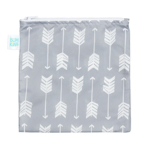 Bumkins - Large Snack Bag - Grey Arrow