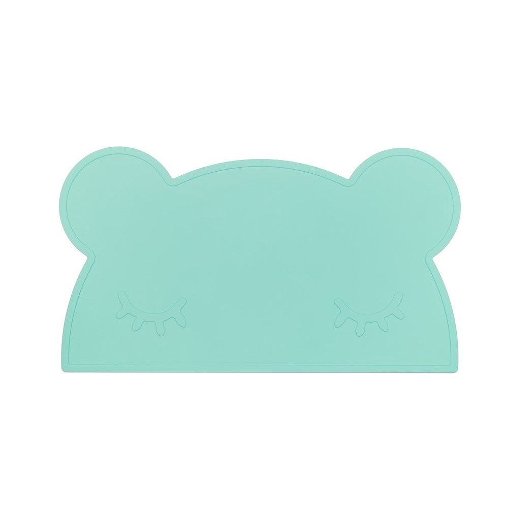 We Might Be Tiny Bear Placemat - Minty at Baby Eden