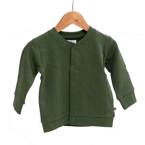 Burrow & Be Essentials Fleece Cardigan - Pine