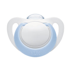 Nuk White/ Blue Genius Silicone Soother at Baby Eden