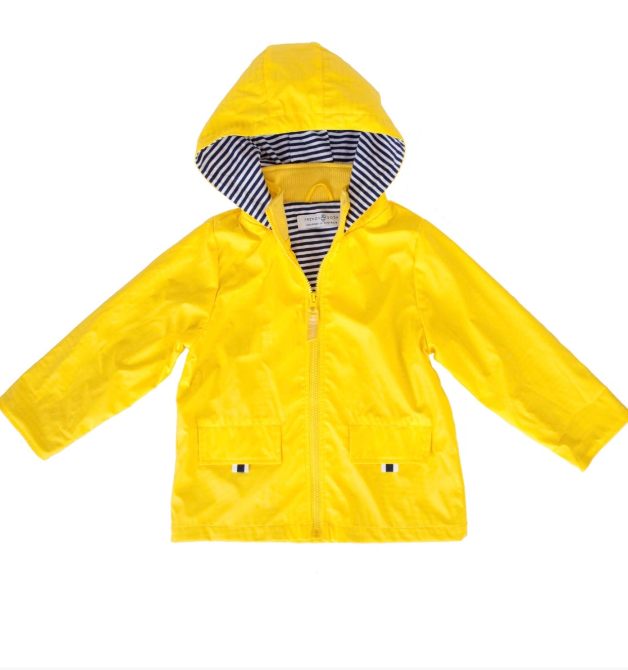 French Soda Yellow Zip Unisex Raincoat