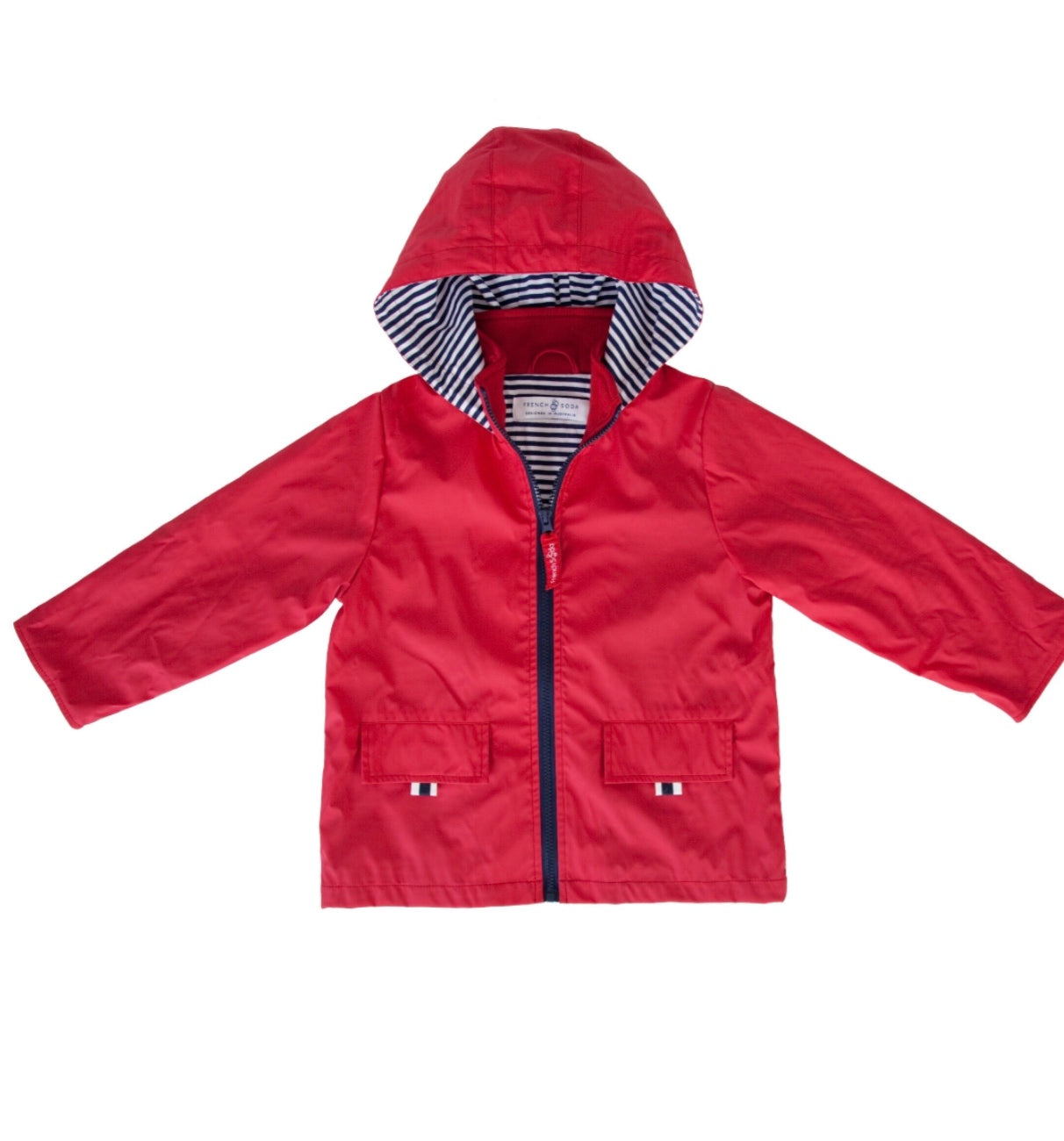 French Soda Red Zip Unisex Raincoat