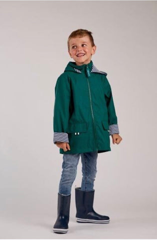 French Soda Meadow Green Zip Unisex Raincoat