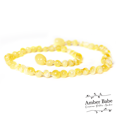 Amber Babe Baltic Amber Necklace - 32cm Butter
