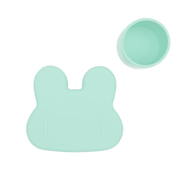 We Might Be Tiny Bunny Snackie Box - Minty Green at Baby Eden