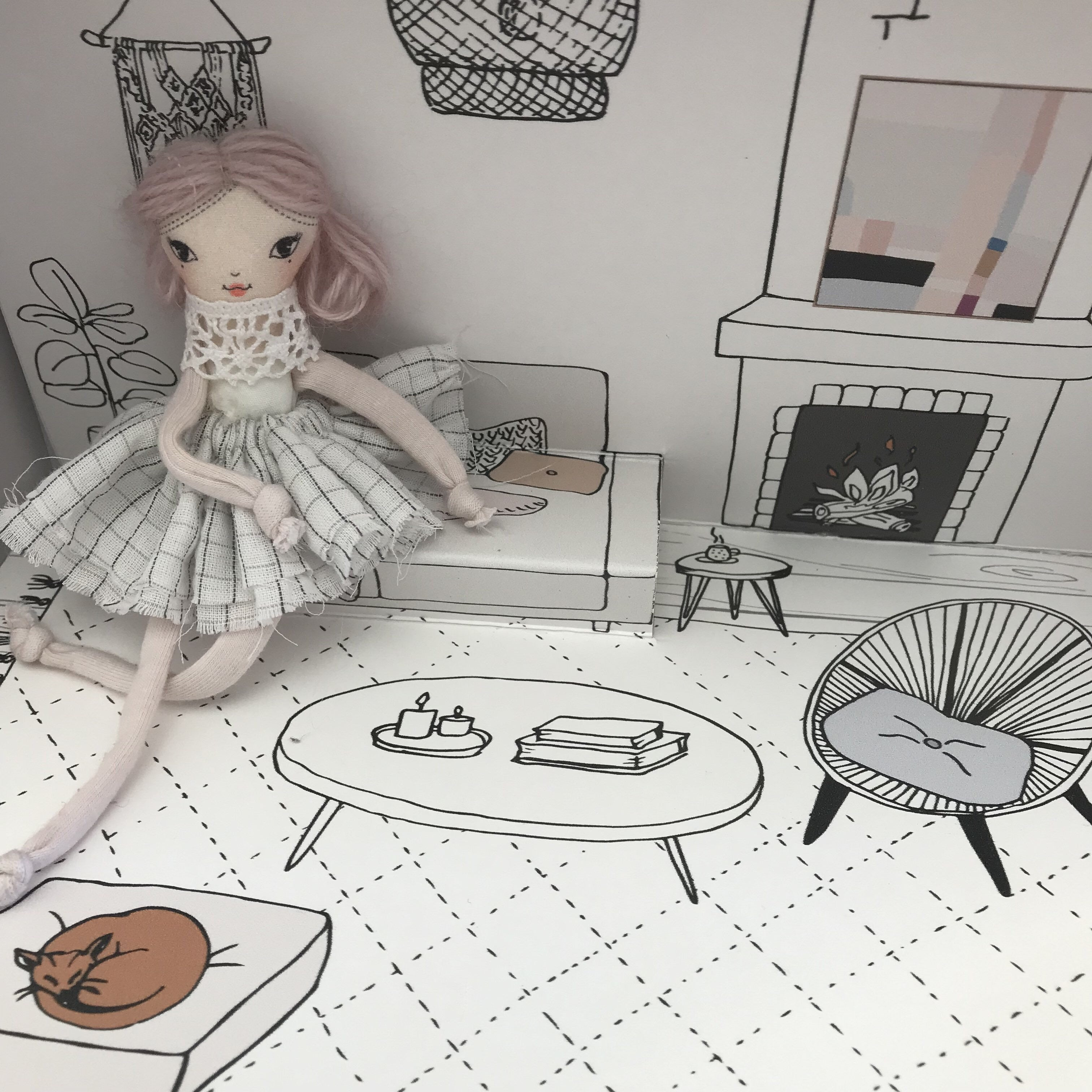 Pop-Up Doll House - A Day At Home - Biscuit