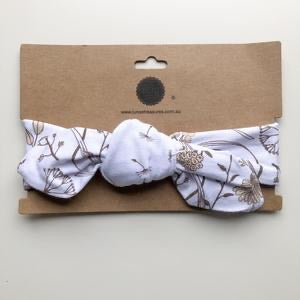 Wild Meadow (neutral petals) Topknot Headband