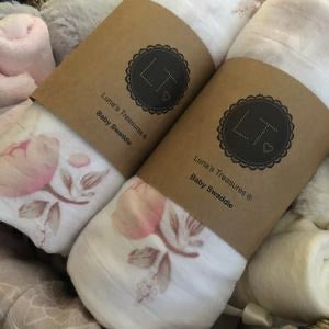 Nude Rose Bamboo Muslin Swaddle