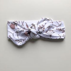 Wild Meadow (pink petals) Topknot Headband