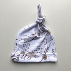 Wild Meadow (neutral petals) Knotted Hat Newborn