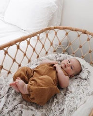 Wild Meadow (neutral petals) Bamboo Muslin Swaddle