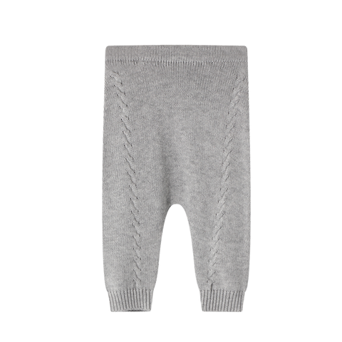 Baby Knitted Legging Grey Marle