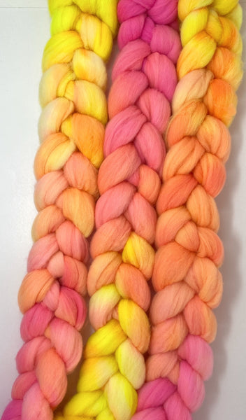 Pink Lemonade | Polwarth Roving Combed Top