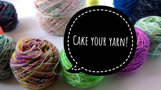 Make It A Cake! Yarn Winding Service