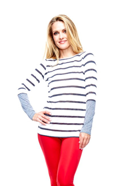 Long sleeved Striped Reglam Shirt - AMLA
