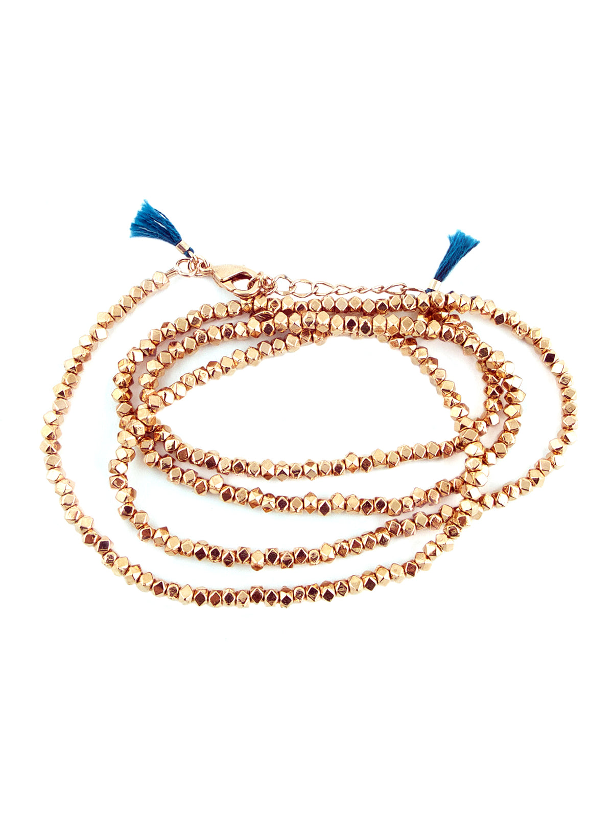 Shashi Rose Gold Nugget Wrap