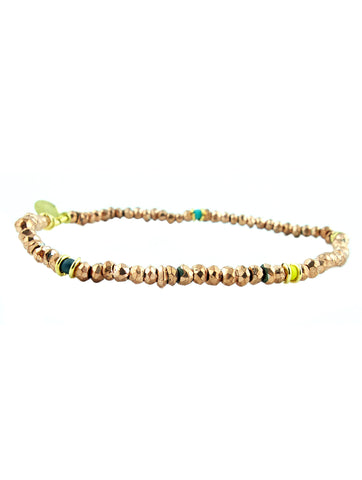 Shashi Noor Rose Gold Pyrite Gemstone Bracelet