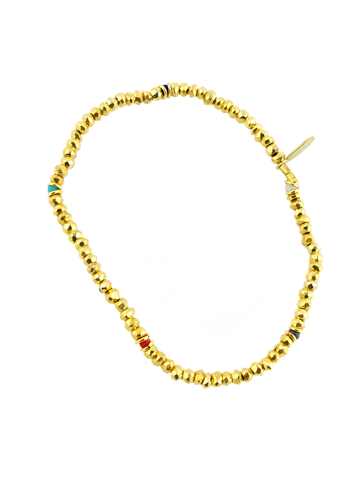 Shashi Noor Yellow Gold Pyrite Gemstone Bracelet