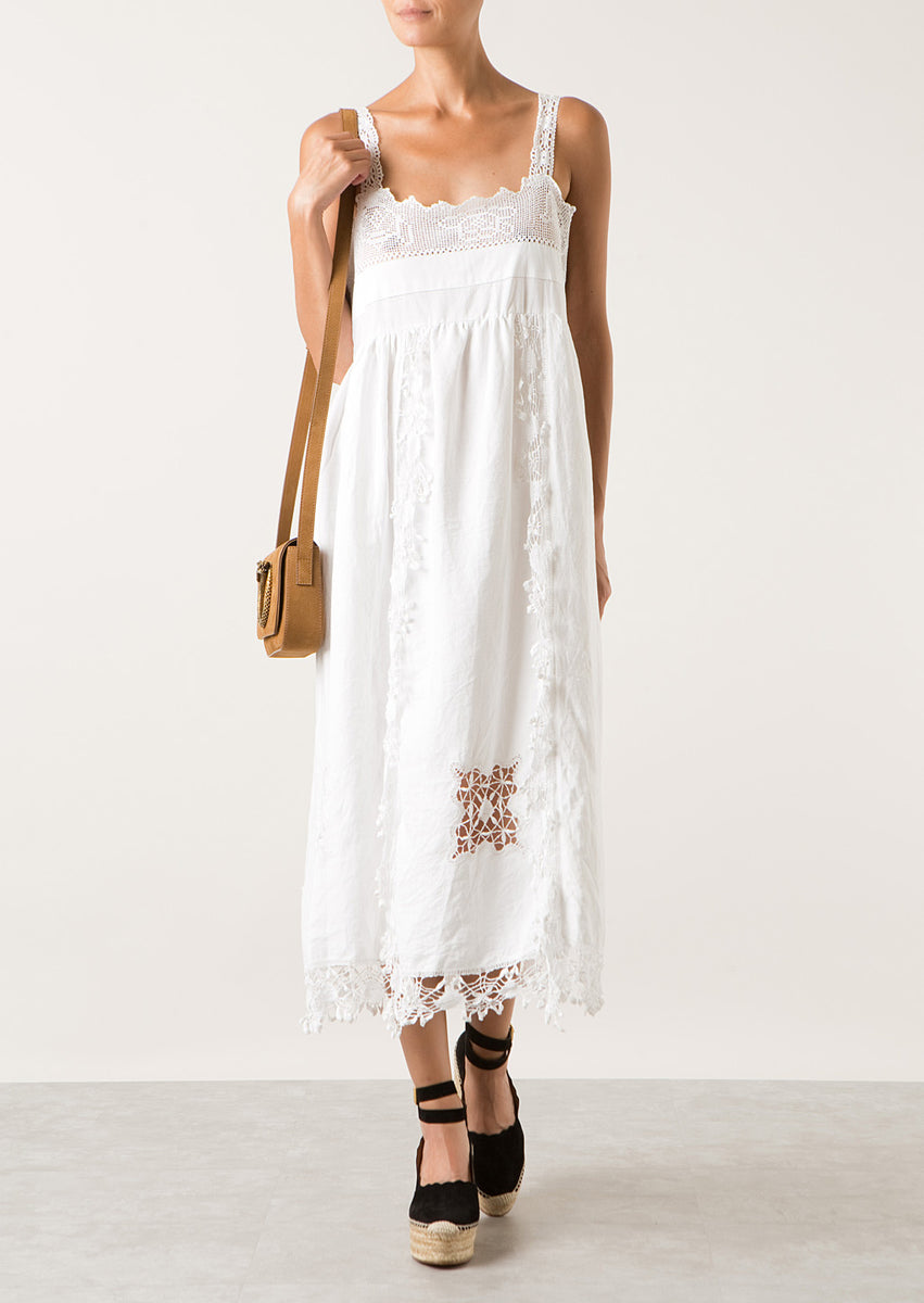 Place Nationale Midi Lux White Dress