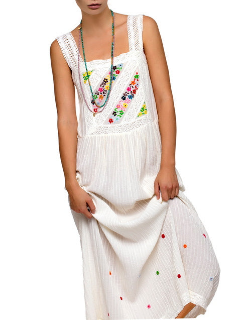 BLUE HIPPY JOY MAXI SUNDRESS