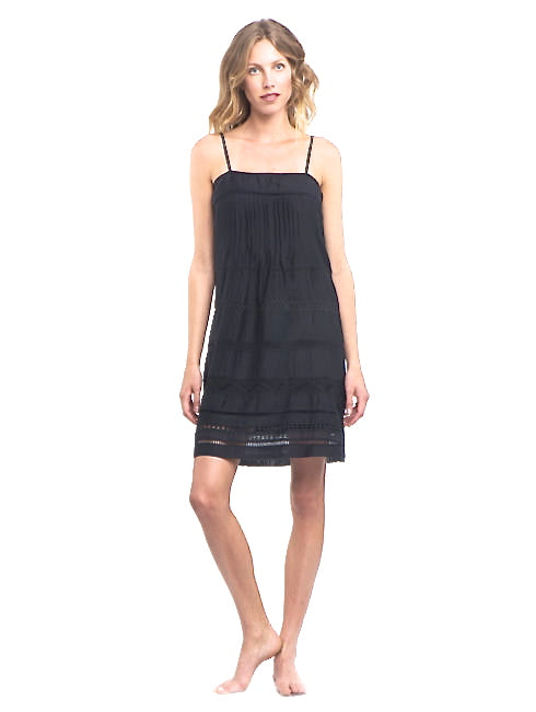 Summer Breeze Elegant Black Tank Dress