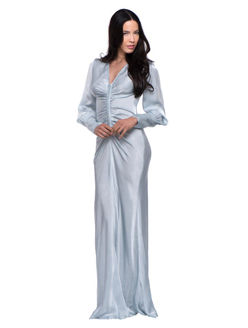 Ghost London - Tory Long Sleeve Maxi Dress - Cool Gray - AMLA