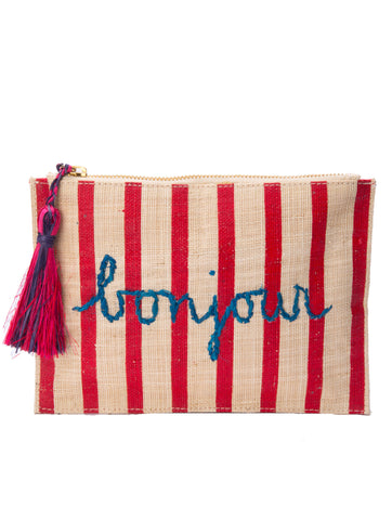 Kayu Bonjour Red Stripes Clutch