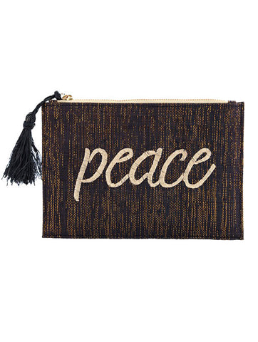 Kayu Peace Black Pouch