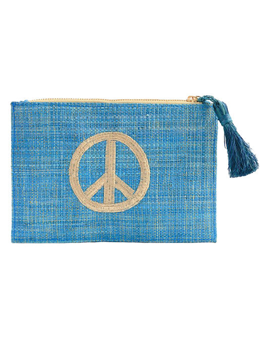 Kayu Peace Pouch - Blue - Amanda Mills Los Angeles
