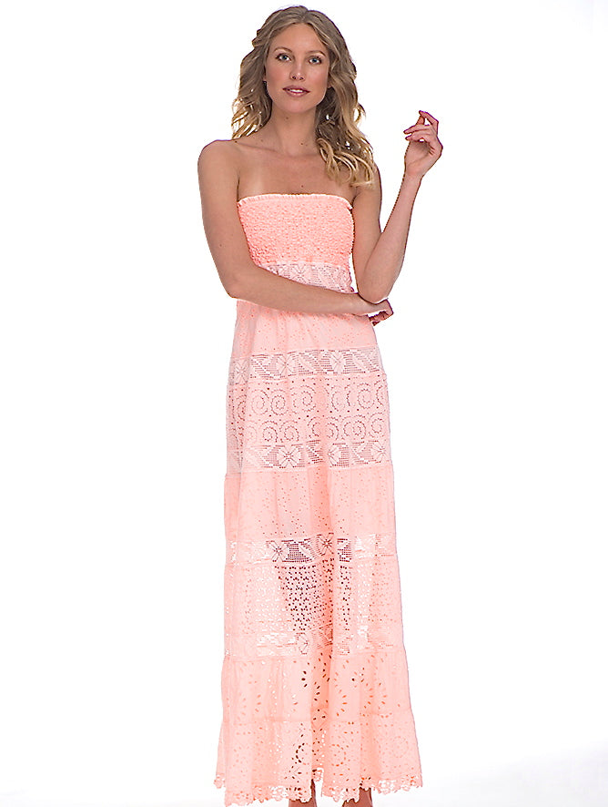 Temptation Positano Peach Dublino Dress - shop amla