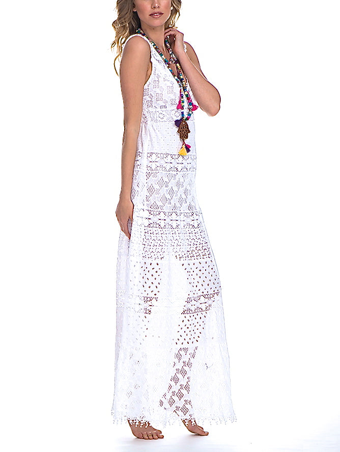 Temptation Positano White Paola Dress - amla