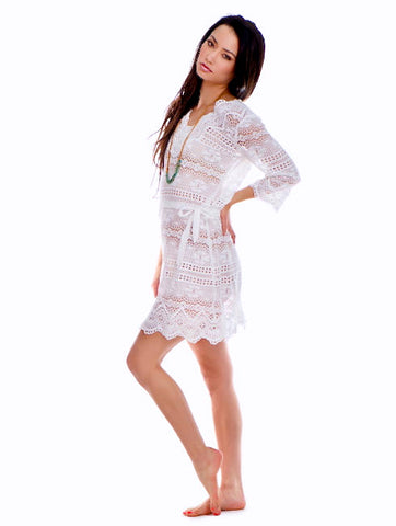 Temptation Positano White Palmi Dress