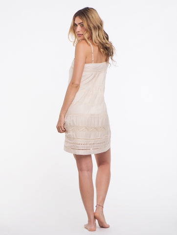 Falcon & Bloom Nude Summer Breeze Tank Dress