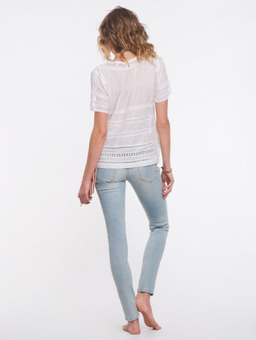Falcon & Bloom White Summer Breeze Top